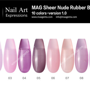 COLOR BASE COAT a collection of sheer lavender