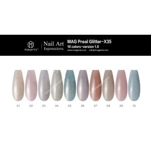 GLITTER GEL MAG Pearl Glitter-X35