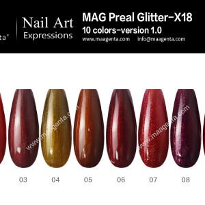 GLITTER GEL MAG Pearl Glitter-X18