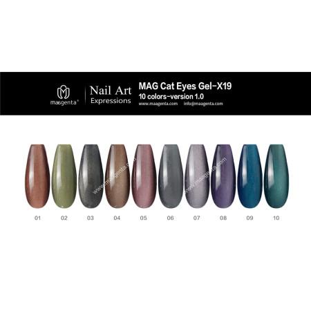3D MAGIC CAT EYE gel nail polish for creative nail art MAG CAT EYE COLLECTION-X19