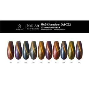 CHAMELEON CAT EYE gel nail polish-X22