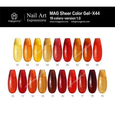 COLOUR GEL Amber Effect MAG Sheer Color Gel-X44