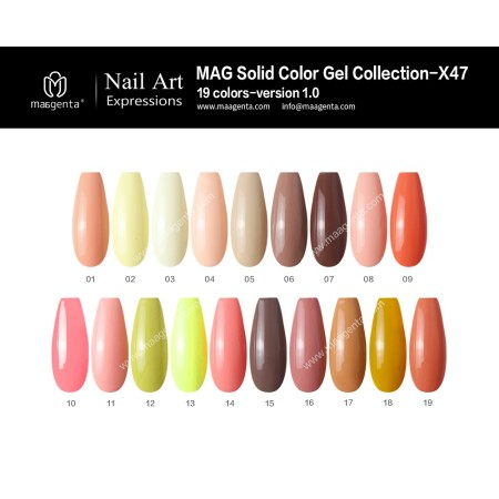 COLOUR GEL MAG Solid Color Gel Collection-X47