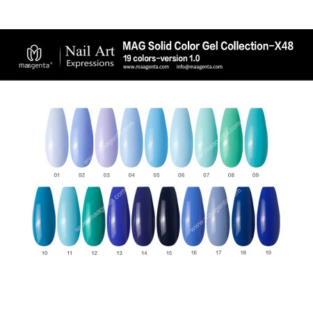 COLOUR GEL MAG Solid Color Gel Collection-X48