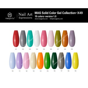 COLOUR GEL MAG Solid Color Gel Collection-X49