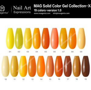 COLOUR GEL MAG Solid Color Gel Collection-X43
