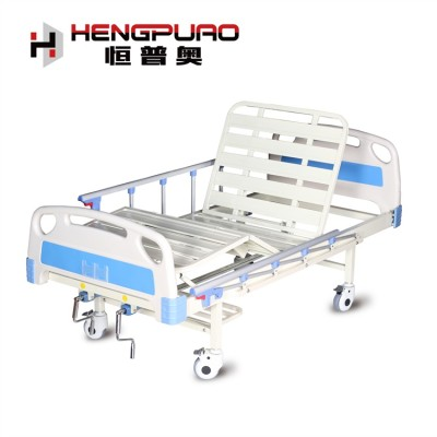 medical furniture 2 cranks manual hospital bed with factory price
