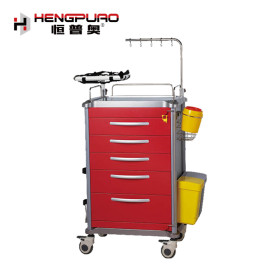 different functions hospital use ABS medical trolley with wheel