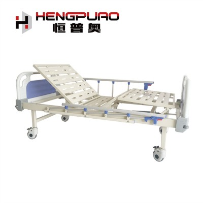 China medical two functions hospital use manual patient bed for elderly