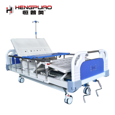factory price medical furniture two cranks metal hospital beds for sale