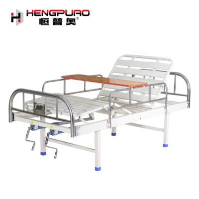 simple type back reclining two cranks cheap hospital bed for sale