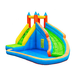 DD63009  Inflatable Slide Bouncer w/Pool Slide Climber Castle Bounce House