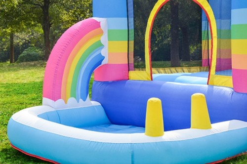 DD62112 Rainbow Inflatable Bounce House Inflatable castle for Kids