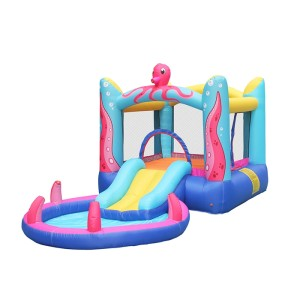 DD63104 Air Slide Bouncy Water Kids Nylon Inflatable Castle Jumping Bouncer with Pool