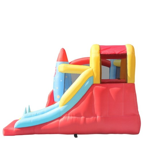 DD62113  New Hot Top Quality Oxford Fabric Prefabricated Inflatable Rocket Bounce Slide from China