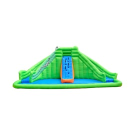 Diapositiva inflable modificada para requisitos particulares de la piscina del PVC de la moda DD63008 con la fábrica China de la pared que sube