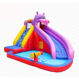 DD63100  Customization Cheap Price Inflatable Fabric PVC Inflatable Hippo Slide Supplier in China