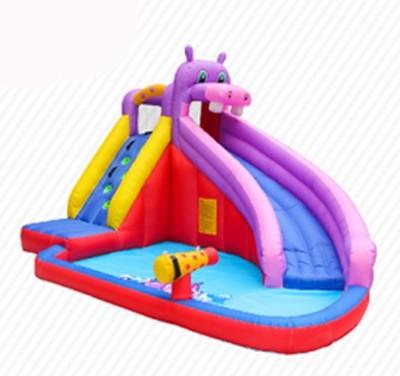 DD63100 Personalización Precio barato Tela inflable PVC Inflable Hippo Slide Proveedor en China