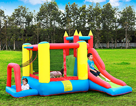 NT-62028  Inflatable Bounce Castle House Kids Party Bouncy House with Air Blower