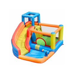 NT-62030  Inflatable Water Slide Cheap Jumping Bed Princess Children Bouncy Castle with Slide