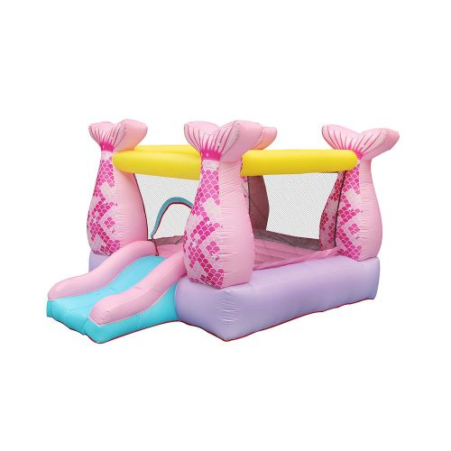 NT-62110 Bounce House Inflatable Mermaid Bouncy Castle House with Air Blower for Kids Party