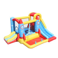 NT-62113  Inflatable Rocket Bounce Castle House Kids Party Bouncy House with Air Blower