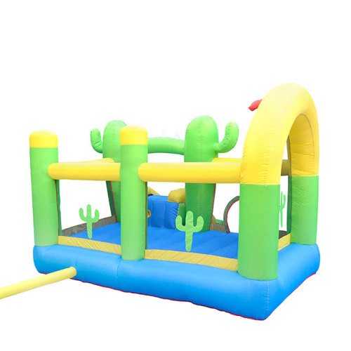 NT-62063 Inflatable Cactus Bounce House Bouncy Castle with Air Blower for Kids Party
