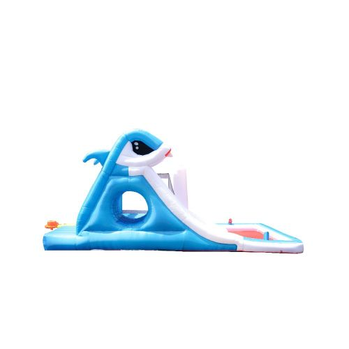 NT-63001B Inflatable Shark Bounce Slide House Jumper Water Slide Park Combo for Kids Outdoor Party