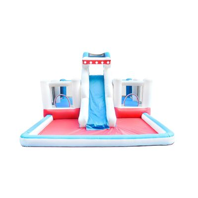 NT-63019B Inflatable Shark Bounce Slide House Jumper Water Slide Park Combo for Kids Outdoor Party