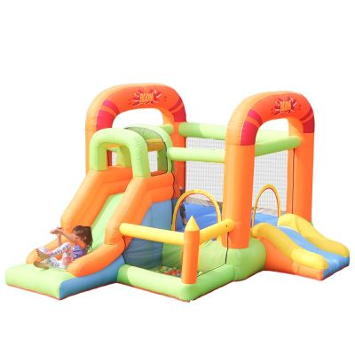 NT-62115 Inflatable Bounce Castle House Kids Party Bouncy House Slide with Air Blower