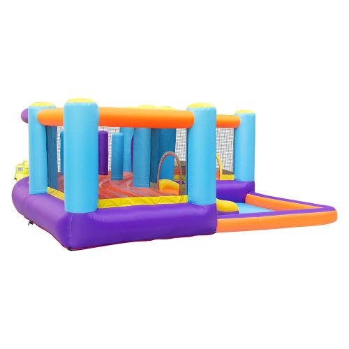 NT-62116  Inflatable Bounce House Bouncy Castle Water Slide with Air Blower for Kids Party