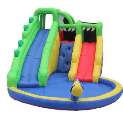 NT-63105 Big Castle Air Bounce House Wholesale, Huge Combo Inflatable Stair Slide with Pool