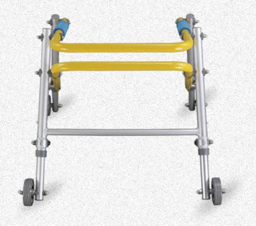 Caminador con ruedas plegable de aluminio de altura ajustable