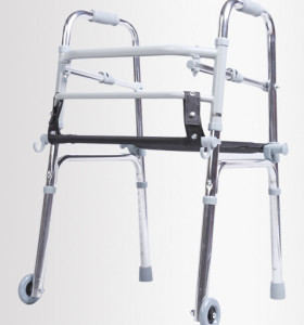 Lightweight Adjustable Aluminum Folding Walker with Seat