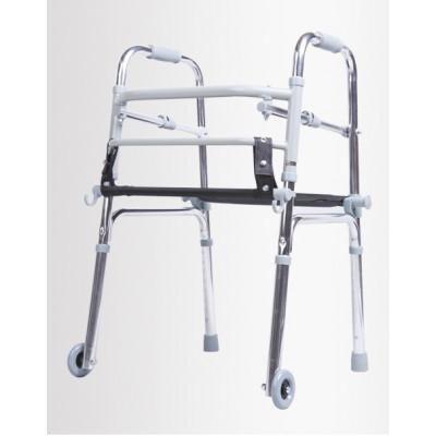 Lightweight Adjustable Aluminum Folding Walker with Seat