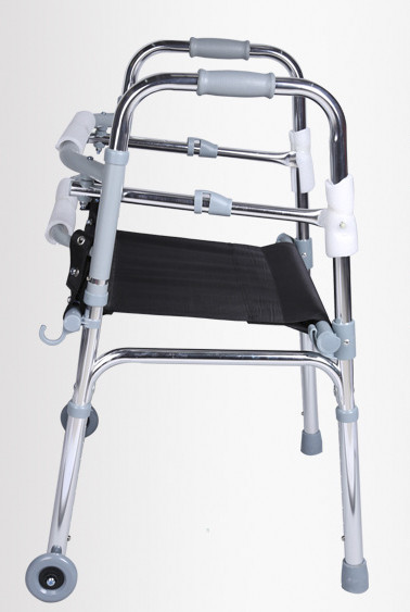 Andador plegable de aluminio ligero ajustable con asiento