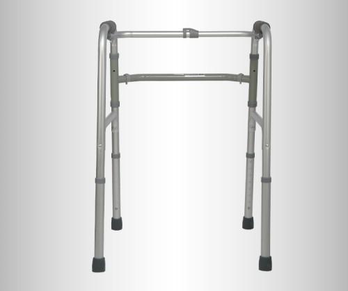 Caminador de aluminio plegable de altura ajustable
