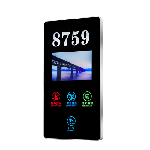 Acrylic Material Hotel Room Door Digital Number Sign With Led Display