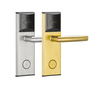 13.56 MHz MF Card 125 KHz T57 Card RFID Door Lock For Hotel