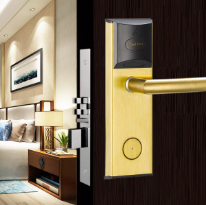 13.56 MHz MF Card 125 KHz T57 Card RFID Door Lock For Hotel