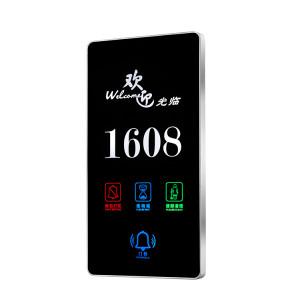 Digital Hotel Room Door Number Plates With LED Do Not Disturb Light