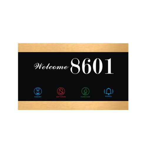 Hotel Room Number Board With Do Not Disturb Door Light