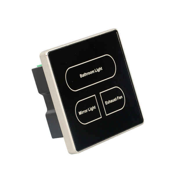 Wall Mounted Glass Panel Touch Switch For Light And Power