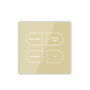 Hotel Electrical LED Touch Panels Wall Switch For Fan And Light