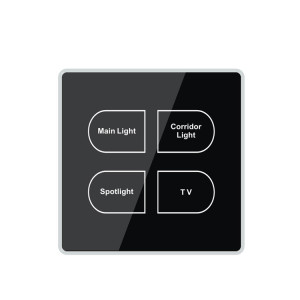 1 2 3 4 Gang 1 Way 2 Way Touch Glass Screen Wall Switch