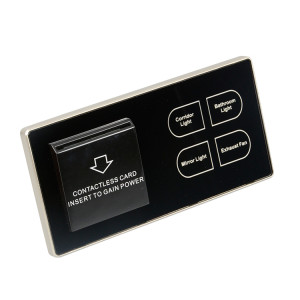 Glass Panel Smart Wall Touch Switch For Light And Fan