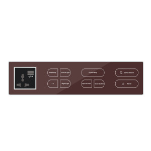 Electric 2 Way Glass Touch Panel Light Switch For Home And Hotel