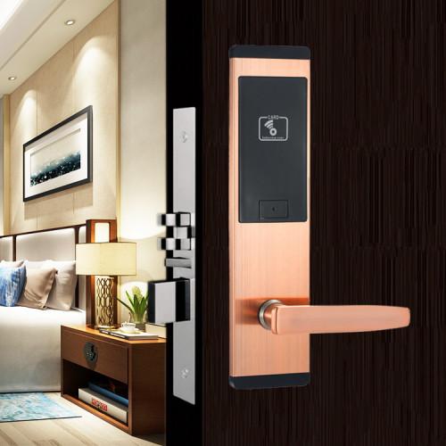 Smart Hotel Door Lock System Opened By RFID Key Card
