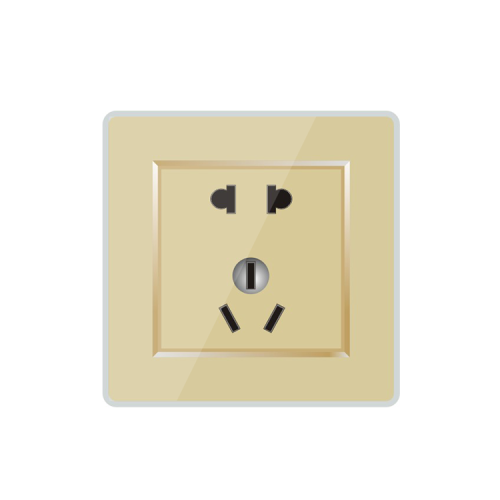 Mount In Wall 2 Pin 3 Pin Socket With Tempered Glass Panel