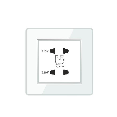 110V 220V Universal Wall Mounted Bathroom Shaver Socket Outlet For Hotel Mirror